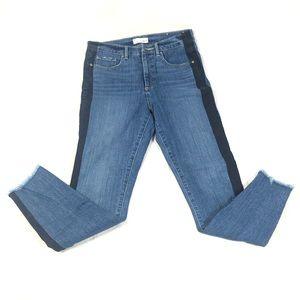 LOFT Jeans Side Line Cut Off High Waist Skinny